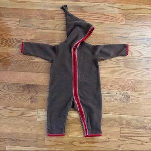 HANNA ANDERSSON | Hooded Fleece Suit SZ: 70/ 6-12M